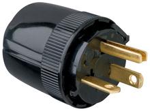 Medium-Duty Dead Front Plug, Black