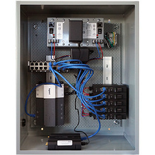 LARGE NETWORK ENCLOSURE WITH 2 NB-ROUTER 8-PORT SWITCH