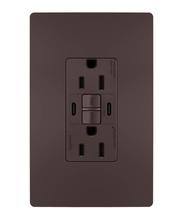 radiant® 15A Tamper-Resistant Self-Test GFCI USB Type-CC Outlet, Dark Bronze, 4-Pack