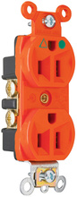 Isolated Ground Heavy-Duty Hospital Grade Receptacles, Back & Side Wire, 15A, 125V, Orange