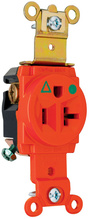 Isolated Ground Heavy-Duty Hospital Grade Single Receptacles, Back & Side Wire, 20A, 125V, Orange