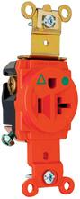 Isolated Ground Heavy-Duty Hospital Grade Single Receptacles, Back & Side Wire, 20A, 125V, Orange
