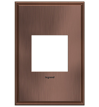adorne® Matte Antique Copper One-Gang Screwless Wall Plate