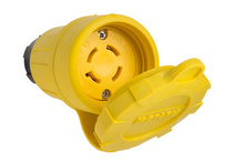 29W77 Watertight NEMA 4X/6P Locking Connector,Yellow