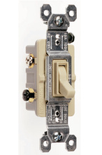 TradeMaster Grounding Toggle Switch, Ivory