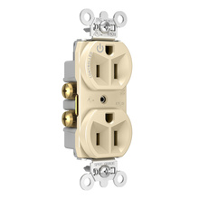 15A, 125V Half-Controlled Plug Load Controllable Receptacle, Ivory