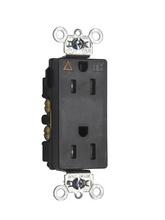 Tamper-Resistant Isolated Ground Decorator Spec Grade Receptacle, Back & Side Wire, 15A, 125V, Black
