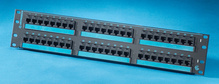 Clarity6 48-port Category 6 patch panel - eight-port modules - 19 in x 3.5 in