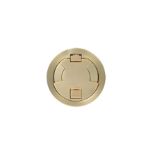 6IN FLUSH STYLE CVR ASSEMBLY SB SATIN BRASS