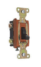 Extra Heavy-Duty Spec. 347VAC Toggle Switch Back & Side Wire, Brown