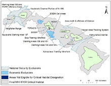 Main Hawaiian Islands Insualr False Killer Whale Critical Habitat Designation Map