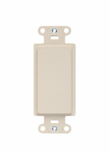 Wall Plate Inserts, Changes Decorator Opening to Blank, Box Mounted, Light Almond
