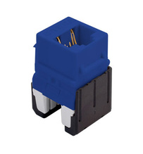 Cat 6a Quick Connect RJ45 Keystone Insert, Blue