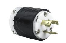 20 Amp NEMA Plug L2420 - Black Back, White Front Body