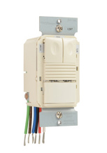 Commercial Occupancy/Vacancy Sensor with Neutral, Light Almond