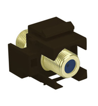 Recessed Self-Terminating F-Connector, Brown