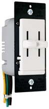 LS TradeMaster Series Dual Slide-to-OFF Incandescent Dimmer, White