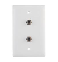3GHz Dual Coax Wallplate, White