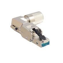 Category 6A Shielded 90 Degree Field Term 8 Position Modular Plugs, 5pk