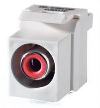 Keystone RCA to RCA (Red Insulator), White