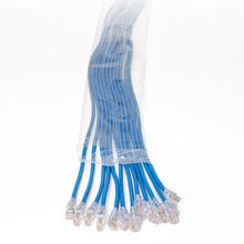 EZ Patch™ Flat Pack TechChoice CAT5E 3ft, 12 Pack, Blue