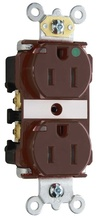 15A Heavy-Duty Power Indicating Hospital-Grade Receptacle, Brown