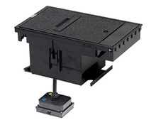 Outdoor Ground Box 2-Gang, 20A Duplex Receptacles, Black
