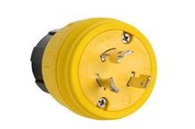 28W48 Watertight NEMA 4X/6P Locking Plug,Yellow