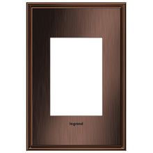 adorne® Matte Antique Copper One-Gang-Plus Screwless Wall Plate