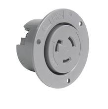 20 Amp NEMA L2120 Inlet, Gray