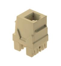 6P6C Keystone Connector, Ivory