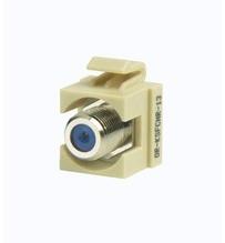 Keystone Recessed F-conn 75 Ohm Electrical Ivory