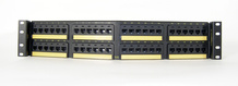 Clarity 10G angled 48-port panel -  Cat6a -  six-port modules -  19 in x 3.5 in