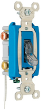 Industrial Extra Heavy-Duty Specification Grade Switch, Lighted When On, Back & Side Wire, Clear