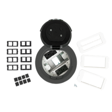 6AT Prewired Evolution™ Poke Thru Device, Flush Style Cover, Gray