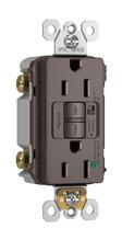 Hospital-Grade Audible Alarm Tamper-Resistant 15A Self-Test Duplex GFCI, Brown