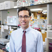 "Biological sciences major Garshasb ""Gary"" Soroosh. Photo: Faye Levine / University of Maryland."