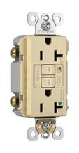 Hospital-Grade Audible Alarm Tamper-Resistant 20A Self-Test Duplex GFCI, Ivory