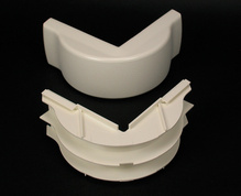 2300 Radiused Divided External Elbow Fitting