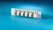 Fib-Cop II Bottom Adapter Plate, 6-LC Duplex (12 Fibers) Multimode, Beige adapters