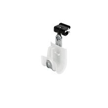 1'' White Plastic Coated J-Hook w/ Latch & Knock-on Beam Clip 5/16-1/2'' Box of 25 [F000670]