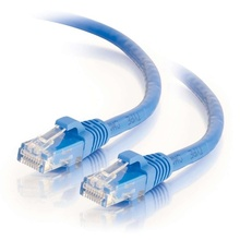Q-Series Patch Cords, CAT6, booted, Blue, 5 FT