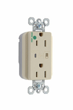 PlugTail® Hospital Grade Extra Heavy-Duty Surge Protective Duplex Receptacle, Ivory