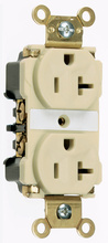 Industrial Extra Heavy-Duty Spec Grade Receptacles, Back & Side Wire, 20A, 125V, Ivory