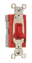 PlugTail® Single Pole 15 amp Toggle Switch, Red