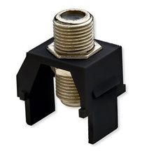 Non-Recessed Nickel F-Connector, Black