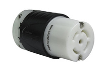 30 Amp L2330 Connector - Black Back, White Front Body