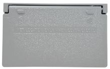 Cast Weatherproof Cover Decorator or GFCI Horizontal, Gray