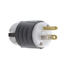 15A, 125V EHU GCM Plug, Black & White