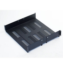 Adjustable Equipment Shelf - vented - 3.34 in H x 17.50 in W x 15 in - 20 in D